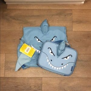Bixbee Shark Backpack and Lunchbox Bundle